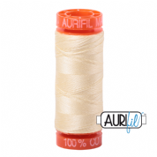 Aurifil 50 Cotton Thread - 2110 (Light Lemon)